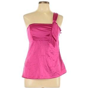 ANN TAYLOR LOFT pink satin blouse